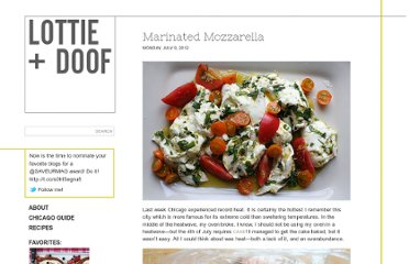 http://www.lottieanddoof.com/2012/07/marinated-mozzarella/