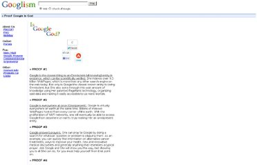http://www.thechurchofgoogle.org/Scripture/Proof_Google_Is_God.html