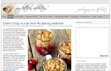 http://www.mykitchenaddiction.com/2011/06/cherry-crisp-in-a-jar-from-my-baking-addiction/