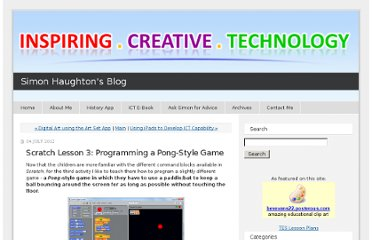 http://www.simonhaughton.co.uk/2012/07/scratch-lesson-3-programming-a-pong-style-game.html