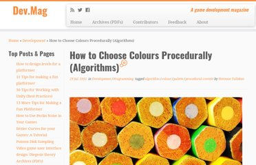http://devmag.org.za/2012/07/29/how-to-choose-colours-procedurally-algorithms/