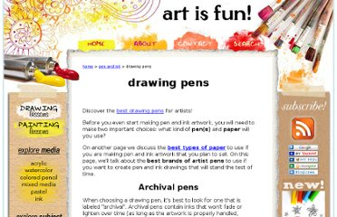 http://www.art-is-fun.com/drawing-pens.html
