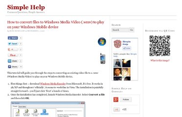 http://www.simplehelp.net/2007/12/01/how-to-convert-files-to-windows-media-video-wmv-to-play-on-your-windows-mobile-device/