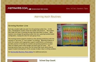 http://mathwire.com/routines/morning.html