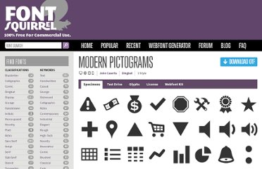 http://www.fontsquirrel.com/fonts/modern-pictograms