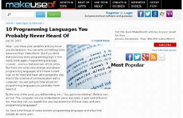 http://www.makeuseof.com/tag/10-programming-languages-heard/