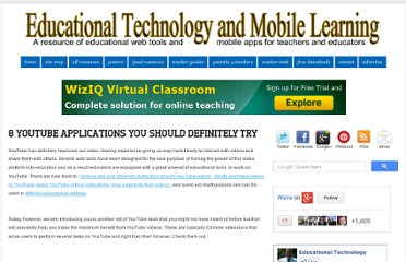 http://www.educatorstechnology.com/2012/07/8-youtube-applications-you-should.html