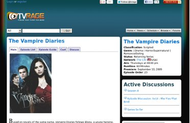http://www.tvrage.com/The_Vampire_Diaries