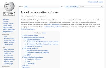 http://en.wikipedia.org/wiki/List_of_collaborative_software