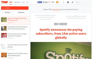 http://thenextweb.com/insider/2012/07/31/spotify-announces-4m-paying-subscribers-from-15m-active-users-globally/