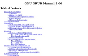 http://www.gnu.org/software/grub/manual/grub.html