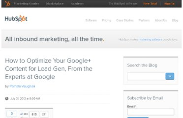 http://blog.hubspot.com/blog/tabid/6307/bid/33442/How-to-Optimize-Your-Google-Content-for-Lead-Gen-From-the-Experts-at-Google.aspx