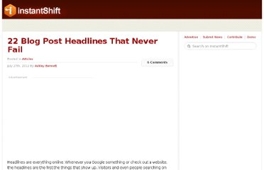 http://www.instantshift.com/2012/07/27/22-blog-post-headlines-that-never-fail/#more-8139