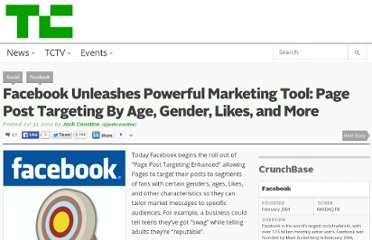 http://techcrunch.com/2012/07/31/page-post-targeting-enhanced/