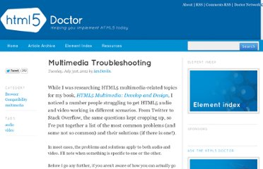 http://html5doctor.com/multimedia-troubleshooting/