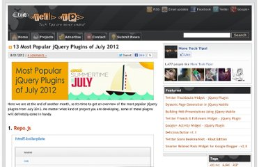 http://www.moretechtips.net/2012/07/13-most-popular-jquery-plugins-of-july.html