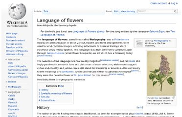 http://en.wikipedia.org/wiki/Language_of_flowers