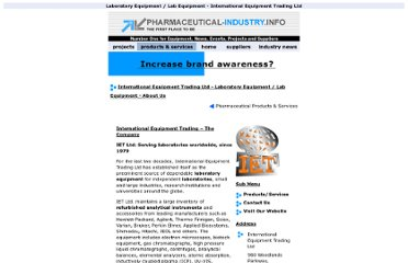 http://www.pharmaceutical-industry.info/modules/pharmaceutical_suppliers/international_equipment_trading/international-equipment-trading-lab-laboratory-about.html
