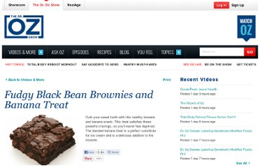 http://www.doctoroz.com/videos/fudgy-black-bean-brownies-and-banana-treat
