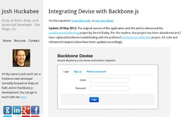 http://joshhuckabee.com/integrating-devise-backbonejs