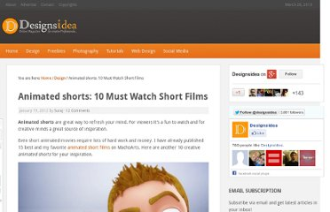 http://designsidea.com/10-animated-shorts/
