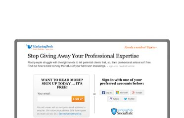 http://www.mpdailyfix.com/stop-giving-away-your-professional-expertise/