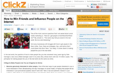 http://www.clickz.com/clickz/column/2189693/how-to-win-friends-and-influence-people-on-the-internet
