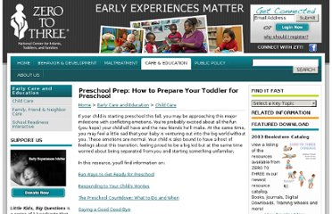 http://www.zerotothree.org/early-care-education/child-care/preschool-prep-how-to.html