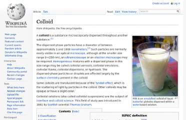 http://en.wikipedia.org/wiki/Colloid