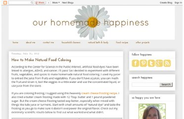 http://www.ourhomemadehappiness.com/2012/07/homemade-natural-food-coloring_31.html