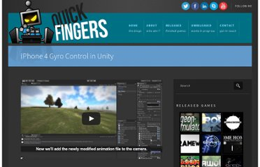 http://www.quickfingers.net/iphone-4-gyro-control-in-unity/