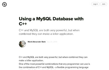 http://suite101.com/article/using-a-mysql-databases-with-c-a70097
