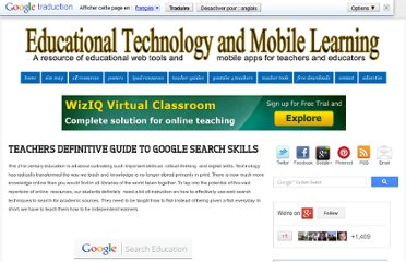 http://www.educatorstechnology.com/2012/08/teachers-definitive-guide-to-google.html