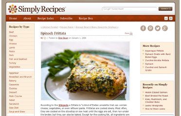 http://www.simplyrecipes.com/recipes/spinach_frittata/