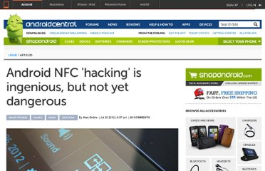 http://www.androidcentral.com/android-nfc-hack-cool-not-new-or-dangerous