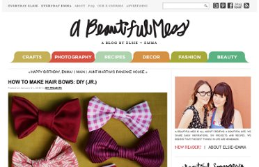 http://www.abeautifulmess.com/2010/01/how-to-make-hair-bows-diy-jr.html