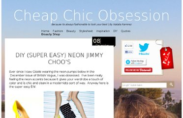 http://cheapchicobsession.com/2011/12/diy-super-easy-neon-jimmy-choos/