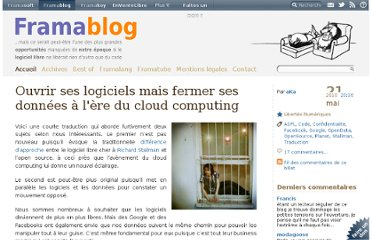 http://www.framablog.org/index.php/post/2010/05/21/logiciel-donnee-libre-ouvert-cloud-computing