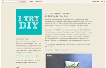 http://www.itrydiy.me/2012/02/weekly-wrap-up.html
