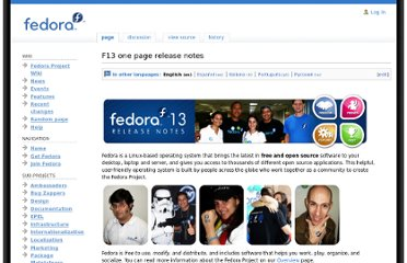 http://fedoraproject.org/wiki/F13_one_page_release_notes?F13an