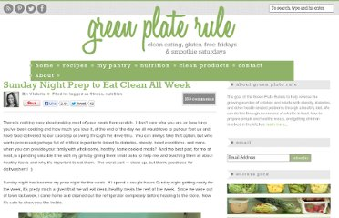 http://www.greenplaterule.com/health-nutrition/sunday-night-prep-to-eat-clean-all-week/