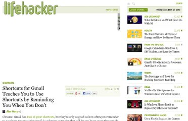 http://lifehacker.com/5931165/shortcuts-for-gmail-teaches-you-to-learn-shortcuts-by-reminding-you-when-you-dont