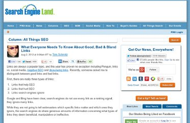 http://searchengineland.com/what-everyone-needs-to-know-about-good-bad-bland-links-129186
