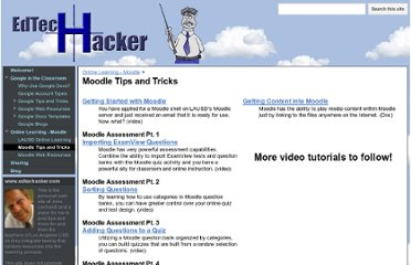 http://www.edtechacker.com/online-learning-with-moodle/moodle-tips-and-tricks