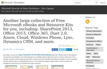 http://blogs.msdn.com/b/mssmallbiz/archive/2012/07/30/another-large-collection-of-free-microsoft-ebooks-and-resource-kits-for-you-including-sharepoint-2013-office-2013-office-365-duet-2-0-azure-cloud-windows-phone-lync-dynamics-crm-and-more.aspx?wa=wsignin1.0