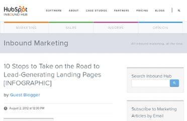 http://blog.hubspot.com/blog/tabid/6307/bid/33453/10-Stops-to-Take-on-the-Road-to-Lead-Generating-Landing-Pages-INFOGRAPHIC.aspx
