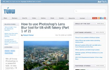 http://www.tuaw.com/2008/10/07/how-to-use-photoshops-lens-blur-tool-for-tilt-shift-fakery-par/
