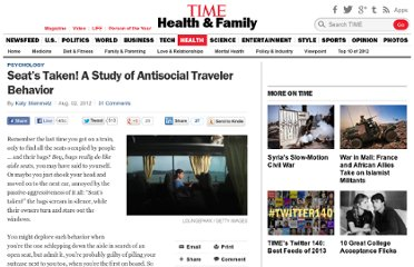 http://healthland.time.com/2012/08/02/this-seats-taken-a-study-of-antisocial-traveler-behavior/