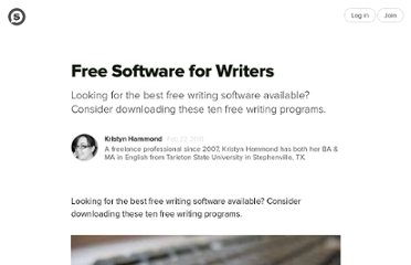 http://suite101.com/article/free-software-for-writers-a205169