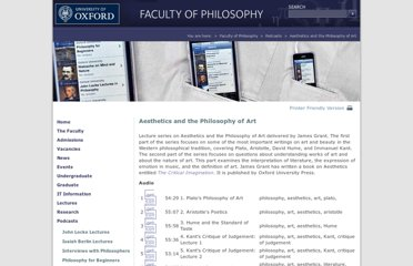 http://www.philosophy.ox.ac.uk/podcasts/aesthetics_and_the_philosophy_of_art